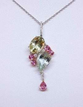 precious gem drop necklace