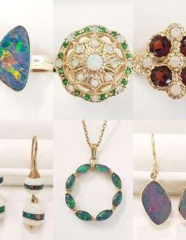 opal and gold jewellery
