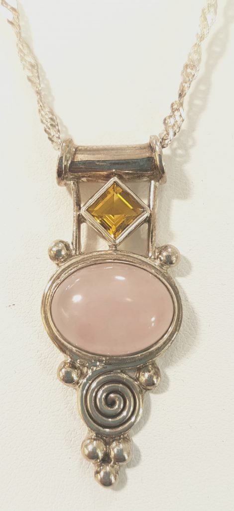 rose-quartz pendant