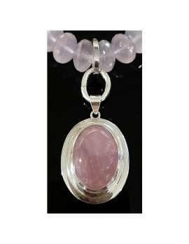 rose-quartz pendant