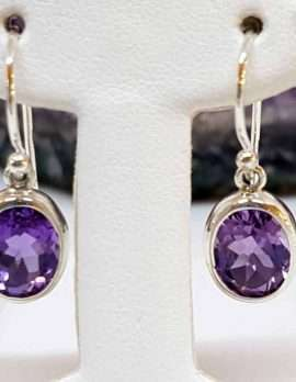 Amethyst Sterling Silver Drop Earrings