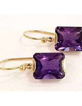 Square amethyst earrings