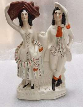 Tall Staffordshire Couple Figurine