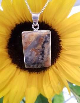 Sterling Silver Agate Pendant on Chain
