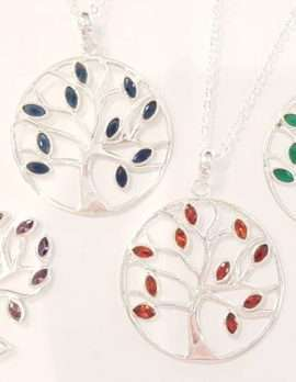 Sterling Silver Large Tree of Life Pendants on Sterling Silver Chains