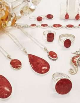 Assorted Sterling Silver Red Coral Jewellery