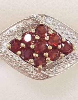 9ct Garnet and Diamond Ring