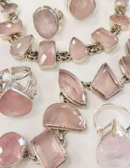 Assorted Sterling Silver and Rose Quartz Jewellery - Sold Separately