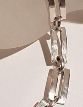 Sterling Silver Rectangular Link Bracelet