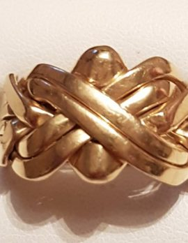 18ct Gold 6 Row Puzzle Ring