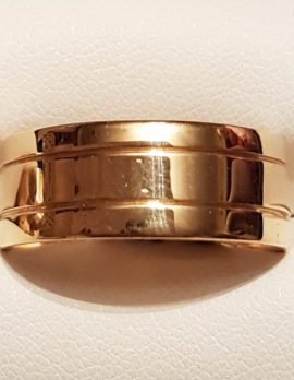 18ct Gold Wide Wedding Band Ring