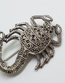 Sterling Silver Marcasite Scorpio Large Brooch