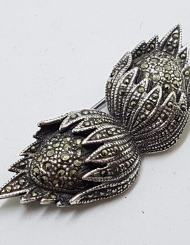 Sterling Silver Marcasite Large Hazelnuts Brooch