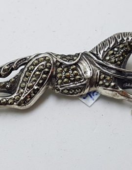 Sterling Silver Marcasite Horse Brooch