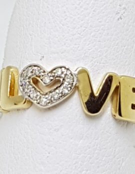 9ct Gold and Diamond Love ring