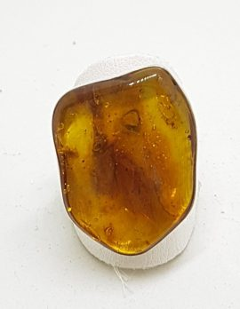 Sterling Silver Chunky Natural Amber Ring