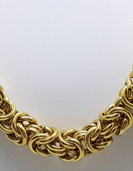 Gold Plated Thick Rope Necklace