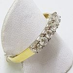 18ct Yellow Gold 6 Diamonds Eternity / Wedding Ring - Large Size