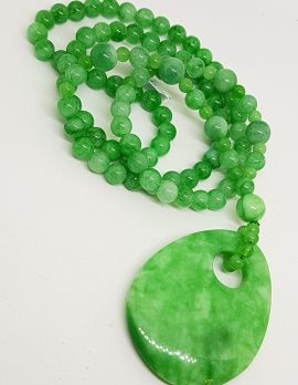 Burmese Jade Bead Necklace