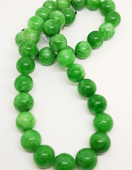 Burmese Jade Round Bead Necklace