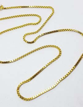 9ct Yellow Gold Long Necklace Chain / Necklace