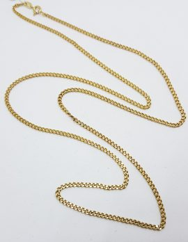 9ct Yellow Gold Long Curb Link Chain / Necklace