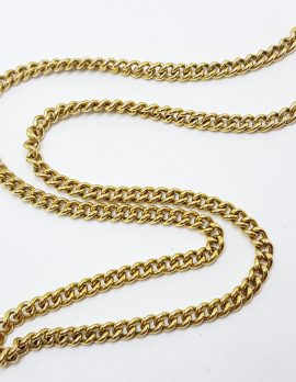 9ct Yellow Gold Thick Curb Link Chain / Necklace