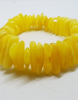 Natural Butter Amber Thick Bead Bracelet
