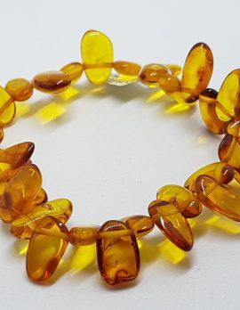 Natural Amber Bead Bracelet