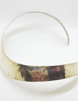 Sterling Silver Wide/Thick Choker Necklace