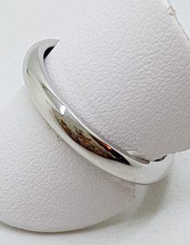 18ct White Gold Rounded Wedding Band