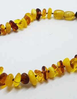 Natural Amber Baby Bead Necklace Multi-Colour