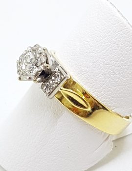 18ct Gold 5 Diamond Engagement Ring