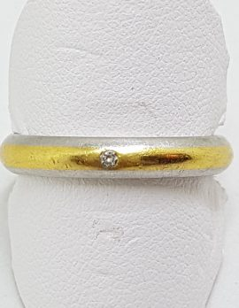 Platinum & 18ct Yellow Gold Diamond Wedding Band Ring