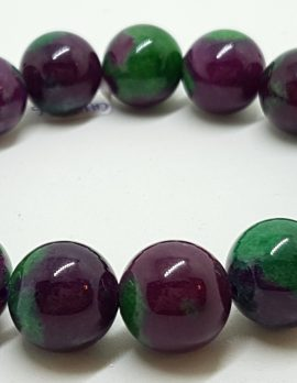 Ruby Zoisite Elastic Bead Bracelet