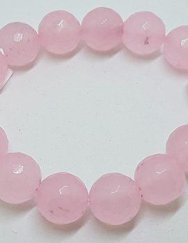 Rose Quartz Elastic Bead Bracelet
