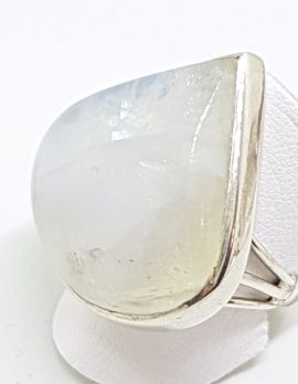 Sterling Silver Large Teardrop Moonstone Ring