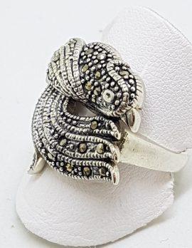 Sterling Silver Marcasite Phoenix Bird Ring