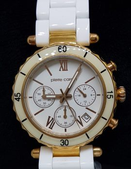 Pierre Cardin Watch - White with Rose Gold Tone