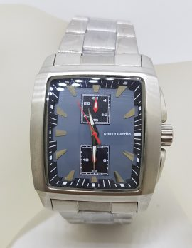 Pierre Cardin Watch - Rectangular Blue & Stainless Steel