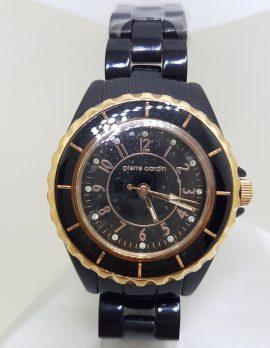 Pierre Cardin Watch - Black & Rose Gold Tone