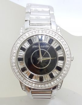 Pierre Cardin Watch - Stainless Steel, Black and Swarovski Crystal