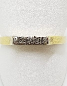 18ct Yellow and White Gold Diamond Eternity Band Ring