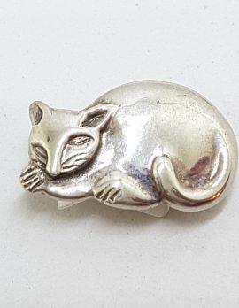 Sterling Silver Possum Brooch