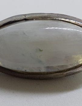 Sterling Silver Oval Moonstone Brooch