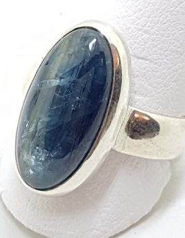 Sterling Silver Oval Apatite Ring