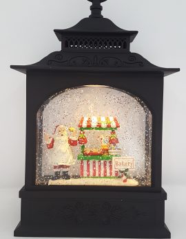 Christmas Glitter Lantern - Santa Bakery - Christmas Ornament #5