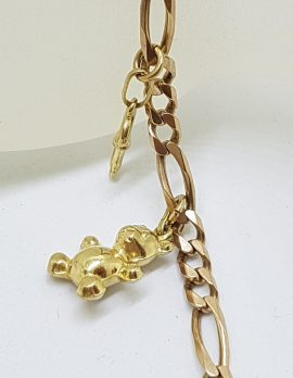 9ct Yellow Gold Charms Bracelet - Vintage
