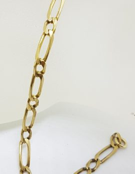 9ct Yellow Gold 1 x 1 Figaro Link Bracelet