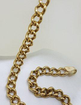 9ct Yellow Gold Long Curb Link Bracelet - Ladies / Gents